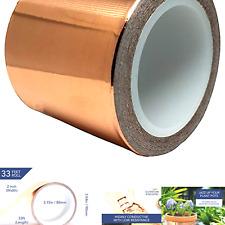 Copper Tape 2 Inch X 33ft Copper Foil Tape Conductive Adhesive For Emi Shie