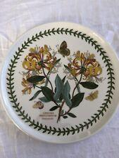 """PORTMEIRION BOTANIC GARDEN HONEYSUCKLE 10"""" Cake Serving Plate Green Backstamp"""