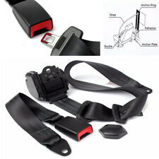 Automatic Retractable 3-Points Auto Car Truck Bus Safety Seat Lap Belt Set Kits