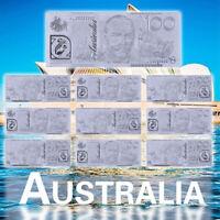 WR 10X New Australian 100 Dollar Silver Banknote + Certificate Best Gift