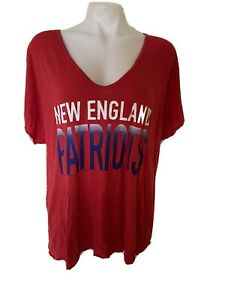 Womens Red size extra-large new England patriots relaxed fit T-shirt