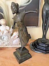 Old Vintage Bronze Thai Siam Asian Dancer Statue Sculpture