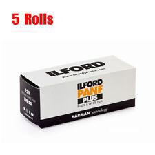 5 Rolls Ilford 50 panf 50 plus 120  Black&White Print Film Fresh  07/2021