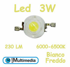 10 Led chip 3W Bianco Freddo 700mA 230 Lumen 6000-6500K