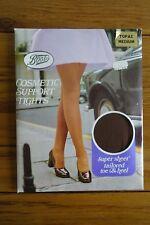 VINTAGE Stivali Cosmetici Supporto Collant Super Sheer M Topazio