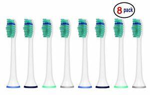 8 iHealthia Toothbrush Heads Compitable w/ Philips Sonicare Brush Heads HX6014