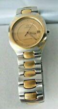 "Authentic Omega Seamaster Polaris Date 2-Tone 18K Gold Stainless Quartz Watch 7"""