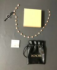 Honora Pink Pear Necklace With Sterling Silver Clasp 17.5''