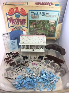 Vintage Marx Sears Heritage The Blue And The Gray Playset