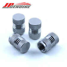 CHROME 4PC JDM ALUMINUM VALVE TIRE STEM CAP - UNIVERSAL