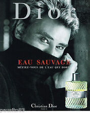 PUBLICITE ADVERTISING 065  2000  DIOR  eau de toilette homme EAU SAUVAGE