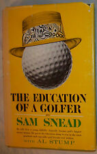 Sam Snead signed book First Printing The Education Of A Golfer HC DJ from 1962