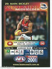 2001 Teamcoach Promotion Card (29) Mark BICKLEY Adelaide
