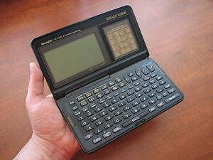 NOS RARE Vtg. SHARP 🔴 OZ-8200 128k LCD electronic organizer computer calculator