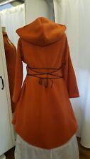 Mittelalterliche Jacke Kapuze Mantel Hoodie Larp Gr.46 48 50 Mittelalter orange
