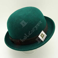 Wool Felt Kids Soft Derby Bowler Boys Top Hat | 52cm | Green | VINTAGE x PARTY