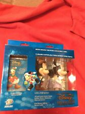 Holiday Disney Treasures Collectible Cards with Mickey & Minnie Mouse Figurines