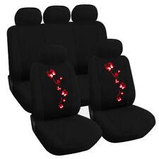Schwarz-Rote 3d Effekt Sitzbezüge für FORD FUSION Autositzbezug Komplett