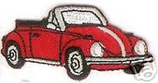 "2 1/2"" Red Convertible Beetle Vehicle Car Embroidered Patch"
