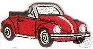 "2 1/2 "" Rouge Convertible Beetle Véhicule Voiture Patch Brodé"