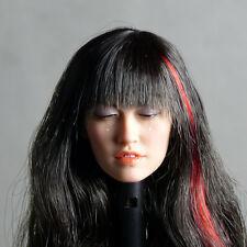 1/6 Scale Phicen Tomorrow Figure Pale Female Head Sculpt w/ Closed Eyes & Tears