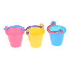 Dollhouse miniature Colourful Plastic bucket Micro Garden Tool SuppliesEr