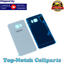 OEM Samsung Galaxy S6 Rear Back Glass Battery Cover Door with Adhesive - White