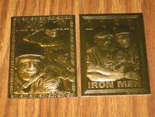 1995 BLEACHERS CAL RIPKEN JR.23 KT GOLD FOIL 2 CARD LOT 2131 AND IRON MEN