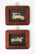 Pair of Vintage Car silhouettes