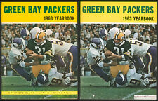 1963 GREEN BAY PACKERS YEARBOOKS (2) ~ RARE OPTIMISTS & FOOD COMPANY