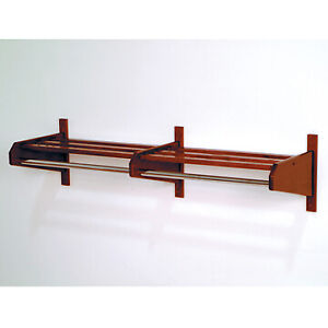 Wooden Mallet 48DCRMH-58 48 in. Oak Coat and Hat Rack in Mahogany - 5/8 in. bar