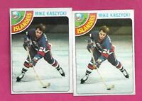 2 X 1978-79 TOPPS # 171 ISLANDERS MIKE KASZYCKI ROOKIE NRMT CARD (INV# C2845)
