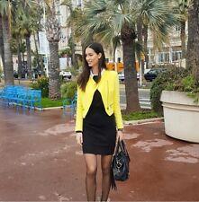 ZARA Jacke Gr.M Gelb Neu mit Etikett Mantel Jacket Blazer Coat Blogger Trafaluc