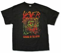 SLAYER SEASONS IN THE ABYSS BLACK T-SHIRT BAND MUSIC NEW ADULT THRASH METAL