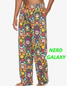 DISNEY Pixar Coco Sugar Skull MEN'S XL 40-42 Pj Sleep Pants BoxLunch Exclusive