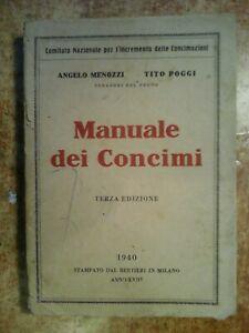 RARO LIBRO DEL 1940 . '  MANUALE DEI CONCIMI '   !!!!!!!!