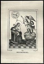 santino stampa popolare 1800 MARIA SS. ANNUNZIATA apicella