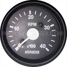 "Electronic  4000 RPM 2 1/16"" (52mm) Tachometer,white Black"