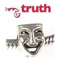 Verità PK 925 Argento Sterling commedia/tragedia maschere Charm Bead, RECITAZIONE TEATRO