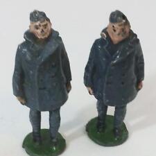 Lead Jhillco England John Hill Lot 2 HTF Airman Figures 1937 Toy Vtg Hollow Cast
