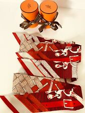 Hermès Multicolor Twilly Pair Mors A Jouets Set Of 2 New Scarf/Wrap