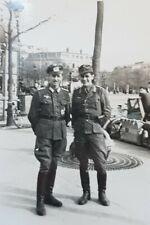 ORIGINAL GERMAN WW2 Army photo soldier pair in the city 9 x 6.5 cm