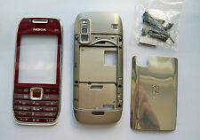 Full Red Fascia Faceplate Cover Housing Case facia for Nokia E75