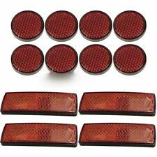 12 Multi Usage Lumière Rouge Réflecteurs Arrière Remorque Réflecteur Disques Caravane Vélo