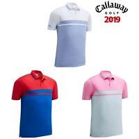 Callaway 2019 Mens Colour Blocked Pique Golf Polo Shirt