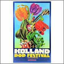 Pink Floyd / T Rex 1970 Holland Pop Festival Concert Poster