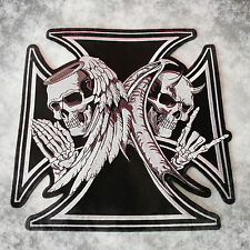 Bad & Good,Skulls,Patch,XL,Rückenaufnäher,Badge,Biker,Kutte,Aufbügler,Biker