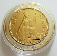 More details for 2005 history of british currency commemorative with gold plated one penny inlay