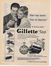 PUBLICITE ADVERTISING 094 1956 GILLETTE 500 le nouveau rasoir