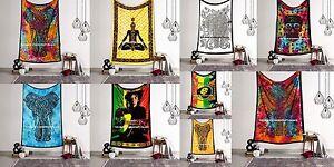 Twin Mandala Tapestry Indian Wall Hanging Bohemian Hippie Bedspread Throw Decor